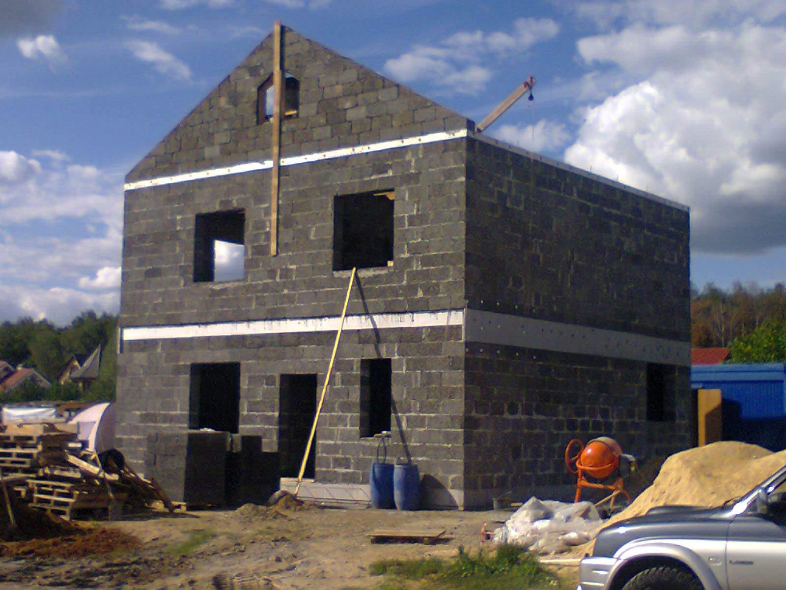 Двухэтажный дом из арболита фото